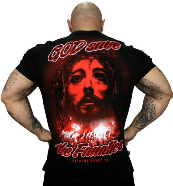"""Koszulka """"GOD SAVE THE FANATICS"""" czerwona"""