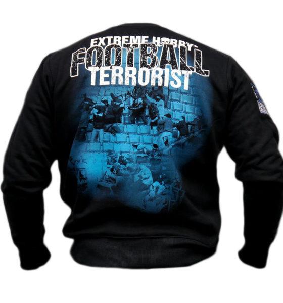 """Bluza """"FOOTBALL TERRORIST"""" niebieska"""