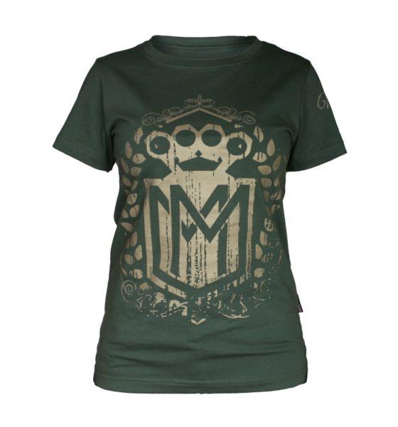 Koszulka LOGO khaki damska